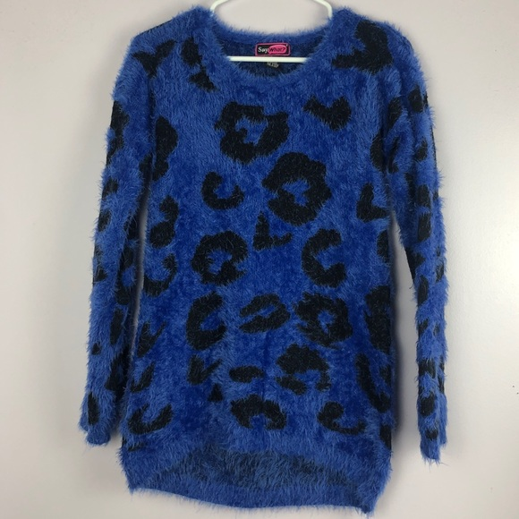 Say What? Sweaters - Fuzzy Leopard Sweater